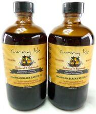 (2) Sunny Isle™ Jamaican Black Castor Oil 8 oz Each  For Thicker and Richer Hair