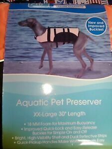 """Guardian Gear. Brand New Aquatic Preserver for Dogs, 30"""" XXL, Orange, in Package"""