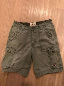 Hollister Shorts Cargoshort Gr.33 Gr.L Herren olivgrün USA Vintage California