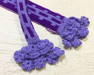 "NEW 5 Colors Crochet Bag Handle Cover Mini Flowers 10"" For LV SPEEDY ALMA Japan"