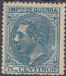 ESPAÑA 1879 Edifil NE4 * 5 cts azul Spain (ref#2581)