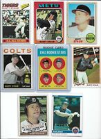 Rusty Staub Lot of (8) Different w/ 1963 Topps Rookie #544 & 1964 Topps #109 EX