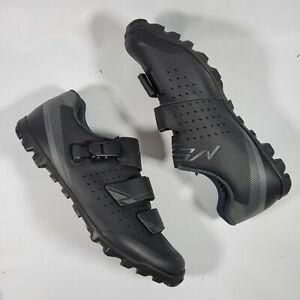 Mens SHIMANO ME3 MTB Bike Shoes SPD Size US 10.5 EUR 45 BLACK CYCLING