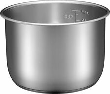 Insignia- 6-Quart Stainless Steel Pressure Cooker Pot