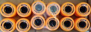 New Abec 11 Retro Freeride Longboard Wheels 72mm 86a Reflex Formula Orange