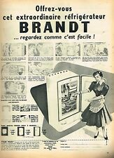 E- Publicité Advertising 1955 Le Refrigerateur Brandt
