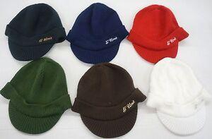 Reebok G - Unit Logo Knit Visor Cap Hat NEW