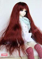 BJD Doll Hair Wig 7-8 inch 18-20cm red brown 1/4 MSD DZ DOD LUTS E39