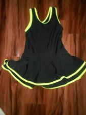 REVOLUTION DANCEWEAR Size LC Dance Costume Neon LIME-Black JAZZ TAP