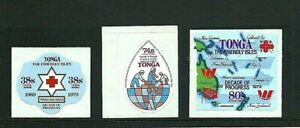 TONGA 1979 - OFFICIAL AIRMAIL Decade Of Progress - Set of 3 SG O187/9 - Mint MNH
