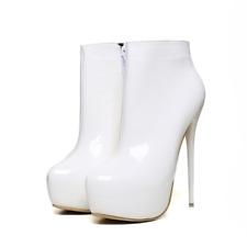 16CM Womens Party Ankle Boots Stilettos Platform Zipper High heels Large Size