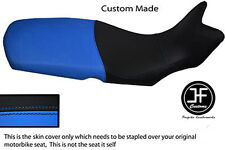 LIGHT BLUE AND BLACK VINYL CUSTOM FITS BMW F 650 GS 2008-2012 SEAT COVER ONLY