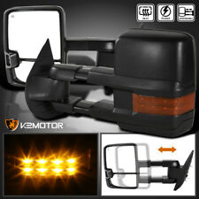 2007-2013 Silverado Sierra Facelift LED Signal Power+Heated Towing Side Mirrors