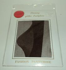 "Shimmy Glitter Pantyhose 100% Nylon BROWN Size Regular Fits 5'-5'10"" NIP"