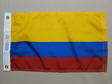 "Ecuador Civil Indoor Outdoor Dyed Nylon Boat Flag Grommets 12"" X 18"""
