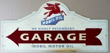 MOBIL OIL GARAGE with an aged look 665mmx320mm all weather sign