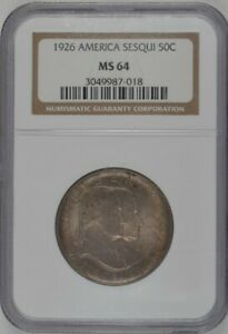 1926 U.S. 50¢ - Sesquicentennial of American Independence - NGC MS64