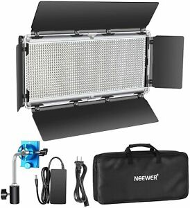 Neewer Dimmable LED Video Light 1320 LEDs 3200-5600K Metal Frame with Barndoor