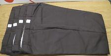 "Lot of 4 Cintas Dark Brown Work Pants Comfort Flex 945-50 Size 38""x 28"" Uniform"