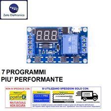 MODULO TEMPORIZZATORE PROGRAMMABILE TIMER 12V DC INTERRUTTORE RELE RELAY 220V AC
