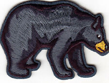 BLACK BEAR - WILD ANIMALS - ZOO -WOODS - FOREST - Iron On Embroidered Patch