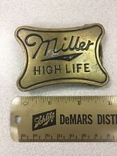 Vintage Miller High Life 1979 Beer Belt Buckle - Brass