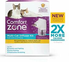 Comfort Zone Feliway Multicat Diffuser and Refill for Cat Calming Reduces Stress