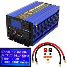 3000W(Peak)/1500W DC12V INTELLINGENT PURE SINE WAVE POWER INVERTER LCD DISPLAY