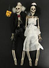 2pcs Hanging bride and groom skeleton 45cm halloween party decoration prop-AU