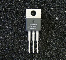Sipex/Alpha 3.3V 0.5A Low Drop Regulator, AS2931AU-3.3, TO-220, Qty.5