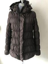Mango Puffer Jacket Hooded S Women Brown Goose Dawn