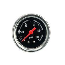 Fuel Pressure Regulator gauge 0-100 PSI / bar Liquid Fill chrome fuel/oil Gauge