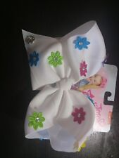 NWT AUTHENTIC JoJo Siwa LARGE BOW w/ ADORABLE FLOWER & CRYSTAL ACCENTS