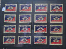 16 VARIOUS BRYANT MAY CROWN SAFETY MATCH BOX 60 LABELS 1950 ROAD FIRE SAFETY No1