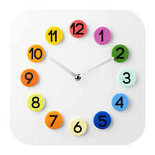 Ikea DASSIGT Colourful Wall Clock, Ideal for Kids' rooms