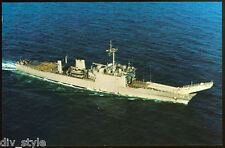 USS SAGINAW lst-1188 Tarjeta Postal NOS MARINA Tanque Landing Enviar (CD 1)