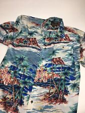 Men's Hawaiian Silk Company Silk Hawaiian Button Up Shirt •Size L *EUC