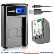Kastar Battery LCD Charger for Sony NP-FP50 NP-FP70 NP-FP71 BC-TRP BC-TRH BC-TRV