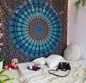 Indisches Mandala Bohemian Psychdelic Handmade Baumwolle Wandteppich Bettwäsche