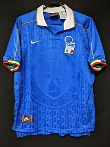 1995 Italy Home Jersey Soccer Shirt Size:M Nike