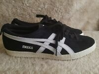 Onitsuka Tiger Men's Mexico Delegation Fashion Sneaker Size 9 Black and White