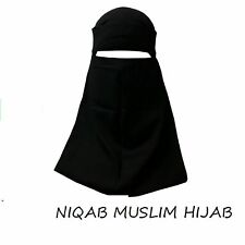INDIA NIQAB MUSLIM HIJAB ONE LAYER ISLAMIC Face Cover Veil Burqa Burka Nikab New