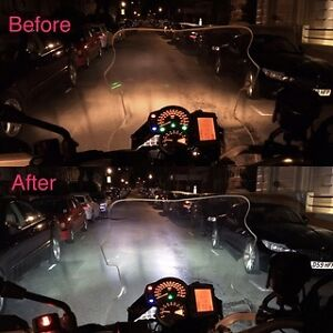 LED Headlamp Headlight H7 Conversion  Kawasaki ZX6R ZX10R Z800 Z1000 SX Versys