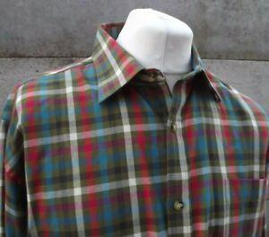 Viyella Tattersall Check Wool & Cotton Flannel Shirt Size   2XL  (B486)