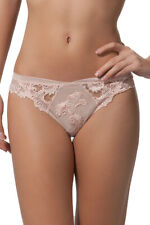"LISE CHARMEL ""DRESSING FLORAL"" STRING ROSE PALE TAILLE 5 NEUF/ETIQUETTE 79,50€"