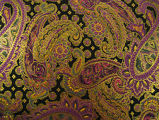 Metallic Paisley Cotton Fabric by Design Club by the Yard