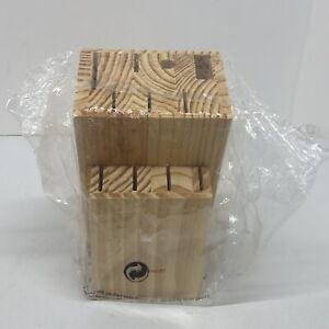 Vintage Faberware Bamboo Wooden Knife Holder (11 Slots)- Brand New Sealed.