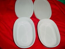 CORNING WARE F-15-B OVAL CASSEREOLE DISHES SET OF 2 WITH LIDS FREE USA SHIPPING