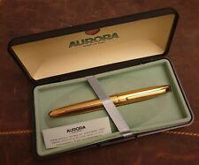 Aurora Style vergoldeter Füllfederhalter 14K/585er Goldfeder Stärke M in OVP RR!