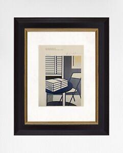 Roy Lichtenstein 1981 Original Print Hand Signed with CEO
